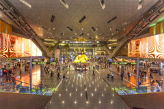 Hamad International Airport dans Doha Photos libres de droits