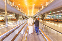 Hamad International Airport dans Doha Image libre de droits