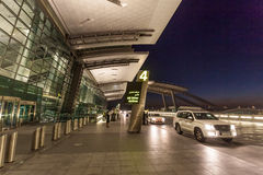 Hamad International Airport dans Doha Image stock