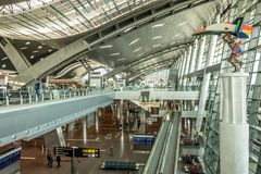 Hamad International Airport in Doha Qatar royalty free stock image