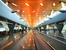 Hamad International Airport is the international airport of Doha, the capital city of Qatar. Stock Photo