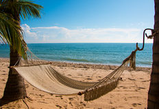 Hamak na plaży Zdjęcia Royalty Free