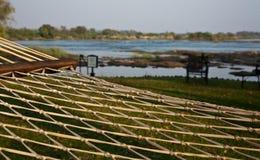 Hamak przegapia rzekę Zdjęcia Royalty Free
