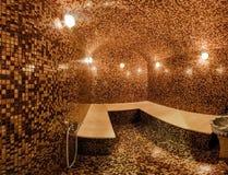 Hamam (hammam). Interior of tiled turkish sauna (hamam royalty free stock photography