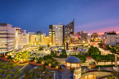 Hamamatsu, Japan Skyline. Hamamatsu, Japan city skyline at twilight Royalty Free Stock Images