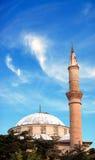 Hamamozu Mosque. In Amasya Turkey.Minaret against to wonderful blue sky Stock Images