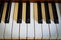 Haman hand som spelar pianot. Arkivfoton