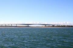 Hamana bridge and Hamanako lake in Hamamatsu, Shizuoka Royalty Free Stock Photos