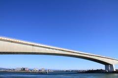 Hamana bridge and Hamanako lake in Hamamatsu, Shizuoka Royalty Free Stock Photography