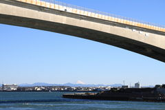 Hamana most, Hamanako jezioro i Mt, Fuji w Hamamatsu, Shizuoka obrazy royalty free