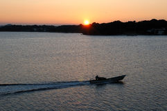 hamanako湖日出 免版税库存图片