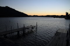 Hamanako lake in Hamamatsu, Shizuoka before dawn Royalty Free Stock Photos
