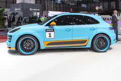 2015 Hamann Porsche Macan S Diesel. Presented on the 85th International Geneva Motor Show Stock Image