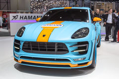 2015 Hamann Porsche Macan S Diesel. Presented on the 85th International Geneva Motor Show Royalty Free Stock Images