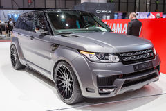 2015 Hamann Range Rover Sport. Presented on the 85th International Geneva Motor Show Royalty Free Stock Image