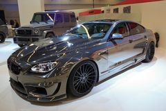 Hamann-Spiegel GASCHROMATOGRAPHIE basiert auf Auto BMWs M6 F13 Stockfotografie