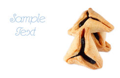 Hamantaschen cookies or hamans ears for Purim celebration. isolated Stock Image