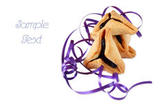Hamantaschen cookies or hamans ears for Purim celebration. isolated Stock Photography