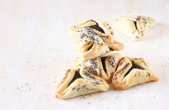 Hamantaschen cookies or hamans ears for Purim holiday celebration Stock Images