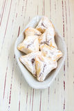 Hamantaschen cookies for Jewish festival of Purim Royalty Free Stock Image