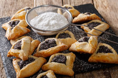 Hamantash, Ozen Aman - traditional Jewish cuisine Royalty Free Stock Photos