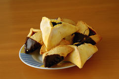Hamantashen pastries. Traditional holiday food for Purim Royalty Free Stock Image