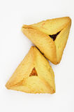 Hamantashen pastries with apricot and raspberry Royalty Free Stock Images