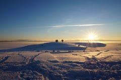 Hamar w zimie Fotografia Royalty Free
