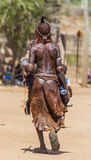 Hamar woman at village market. Turmi. Lower Omo Va Royalty Free Stock Image