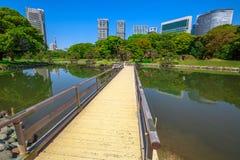 Hamarikyu Gardens in Tokyo Royalty Free Stock Photography