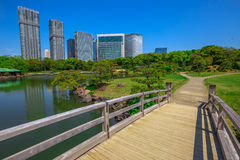 Hamarikyu Gardens Tokyo Stock Photo