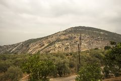 Hamatoura kloster i berget, Kousba el Koura, Libanon royaltyfria bilder