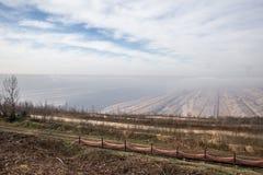 Hambach Alemanha da mineração de superfície de carvão imagens de stock