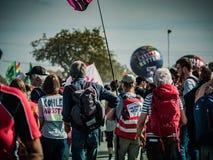 Hambacher Forst demonstracja obraz stock