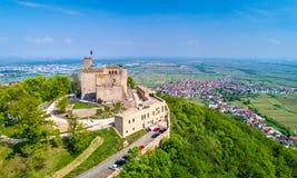 Hambacher Schloss ou château de Hambach, vue aérienne Le Rhénanie-Palatinat, Allemagne photos stock