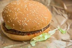 Hamberger délicieux de viande photo libre de droits