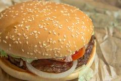 Hamberger délicieux de viande photos stock