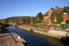 Hambleden Lock Royalty Free Stock Image