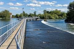 Hambleden Weir on the River Thames Stock Images