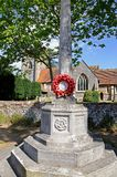 Hambledon cenotaph and church. Royalty Free Stock Images