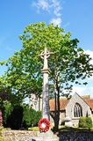 Hambledon cenotaph and church. Stock Images