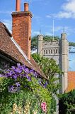 Hambledon church and cottage. Stock Image