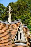Hambledon church gatehouse roof. Stock Image
