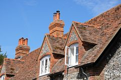 Hambledon cottage dormers. Stock Photography