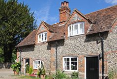 Hambledon village cottages. Stock Photography