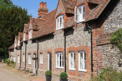 Hambledon village cottages. Royalty Free Stock Photo