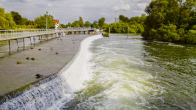 Hambleden Weir on the River Thames Royalty Free Stock Photos