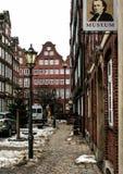 01 02 2011, Hambourg, Allemagne Architecture européenne Paysages urbains de Hambourg en hiver images libres de droits