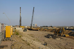 Hambourg (Allemagne) - chantier HafenCity Photos stock