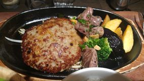 Hambourg et bifteck Photos stock